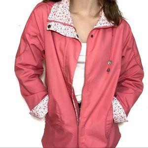 Vintage Pink Jacket with Floral Detailing One Size